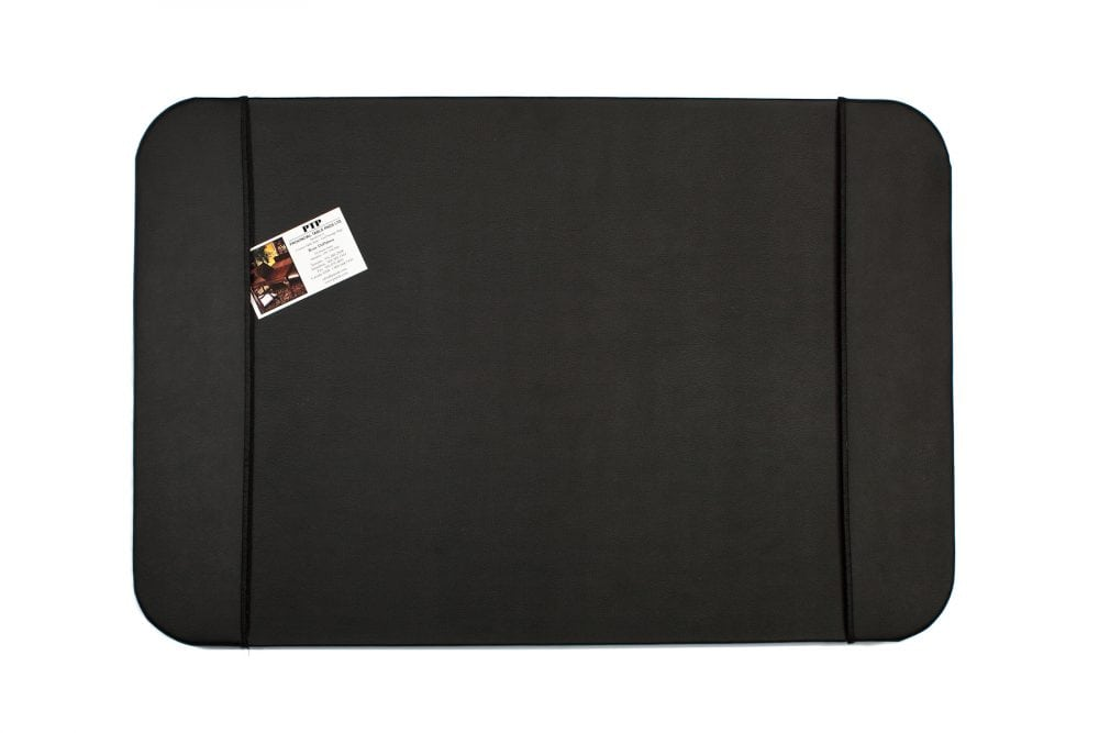 Black desk pad leather
