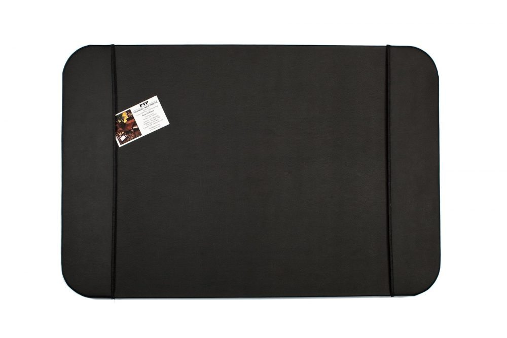 Black desk pad leather