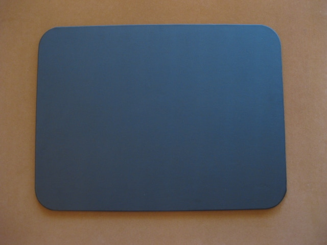 Blue round edge desk protector